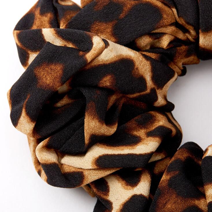 Chouchou géant à motif léopard couleur foncée - Marron,