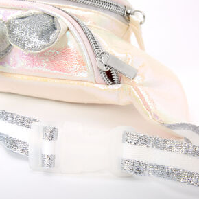 Iridescent Quilted Unicorn Fanny Pack - White,