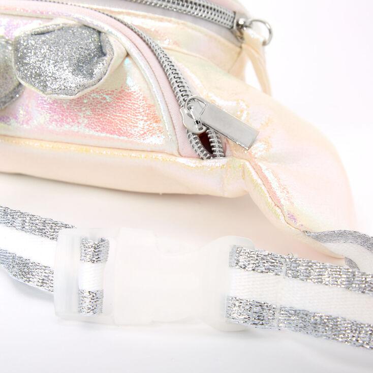 Iridescent Quilted Unicorn Bum Bag - White,