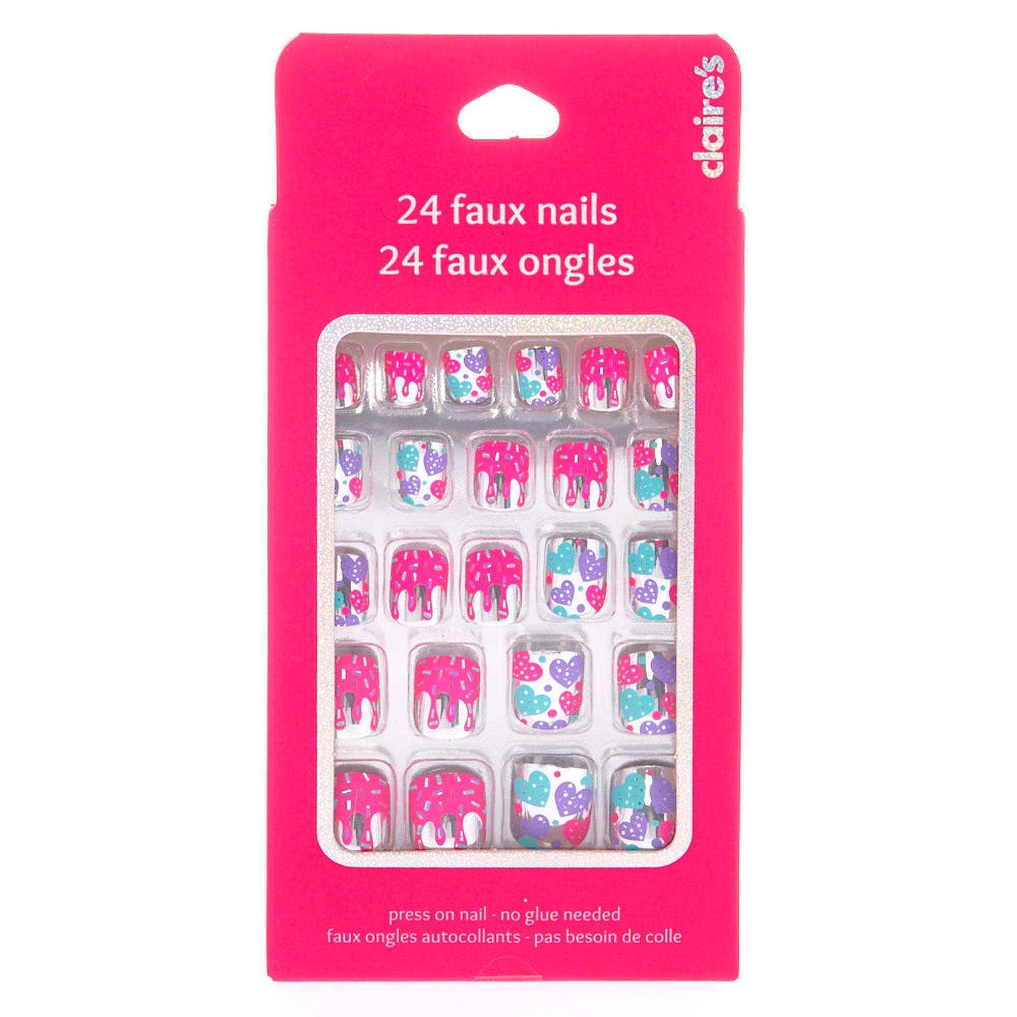 lot de faux ongles paillettes pour enfant claire 39 s fr. Black Bedroom Furniture Sets. Home Design Ideas
