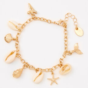 Gold By The Sea Charm Bracelet,