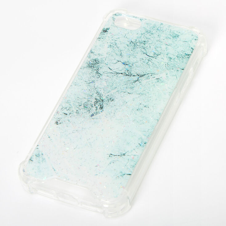 Mint Glitter Marble Protective Phone Case - Fits iPhone 5/5S,
