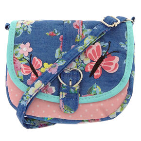 185f487752 Claire s Club Floral Crossbody Bag - Navy