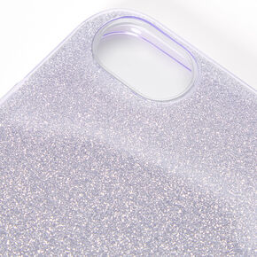 Purple Glitter Protective Phone Case - Fits iPhone 6/7/8/SE,