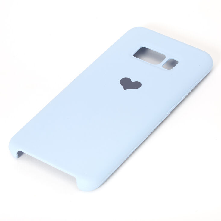 Baby Blue Heart Phone Case - Fits Samsung Galaxy S8,