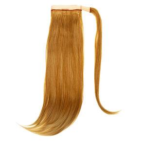 Bandeau avec fausse queue de cheval - Blond,