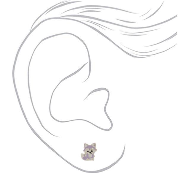 Claire's - sterling fox stud earrings - 2