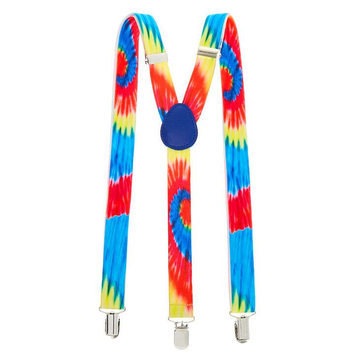 Rainbow Tie Dye Suspenders,
