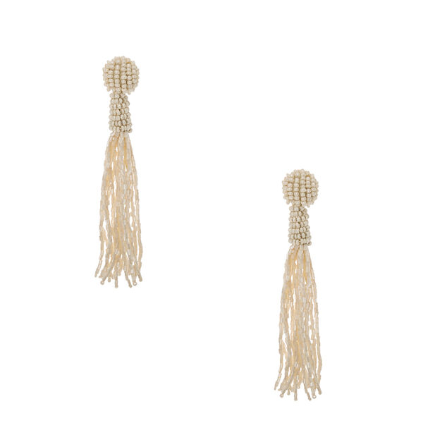 Claire's - knotted bead fringe drop earrings - 1