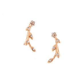 Bijoux d'oreilles vigne décorée couleur doré rose,