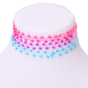 Bright Beaded Tattoo Choker Necklaces - 3 Pack,