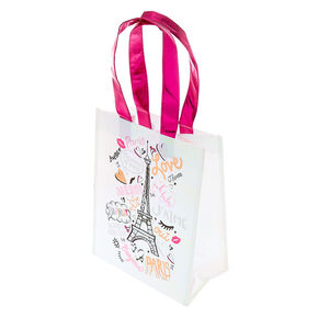 Paris Reusable Tote Bag - Pink,