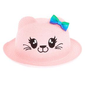 184922c72b4c8 Claire s Club Cat Straw Hat - Pink