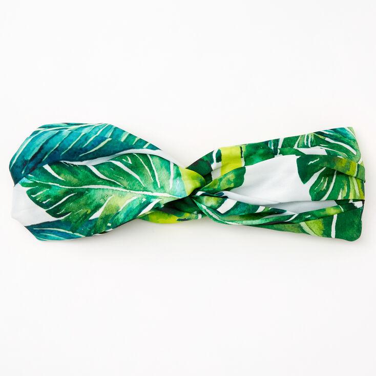 Palm Leaf Print Twisted Headwrap,
