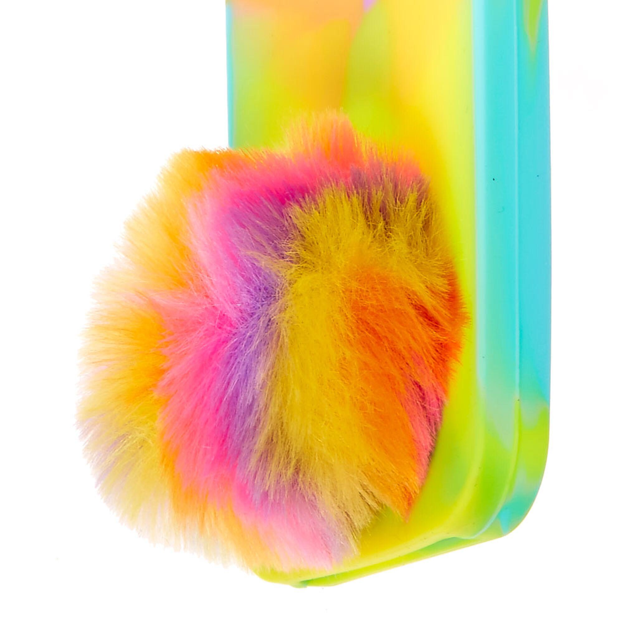 detailed look b8356 89e52 Scented Tie Dye Bunny Fur Pom Pom Phone Case