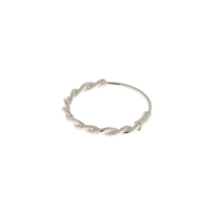 Sterling Silver 22g Braided Chain Nose Ring