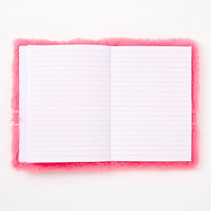 Smiling Avocado Furry Lock Diary - Pink,