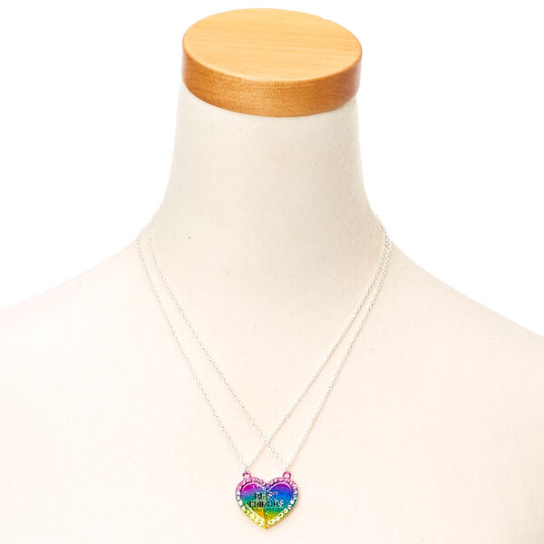 Claire's - best friend neon crystal necklace - 2