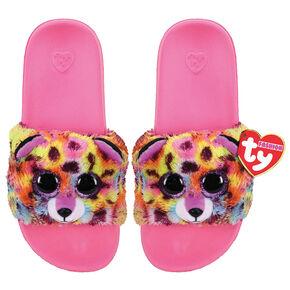 Ty® Beanie Boo Giselle the Unicorn Leopard Slipper Socks,