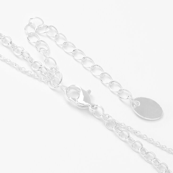 Silver Lemon Multi Strand Pendant Necklace - Yellow,