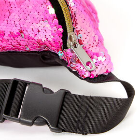 Reversible Sequin Fanny Pack - Pink,