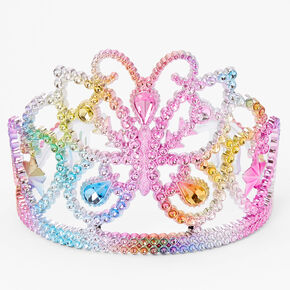 Claire's Club Pastel Butterfly Jeweled Tiara,