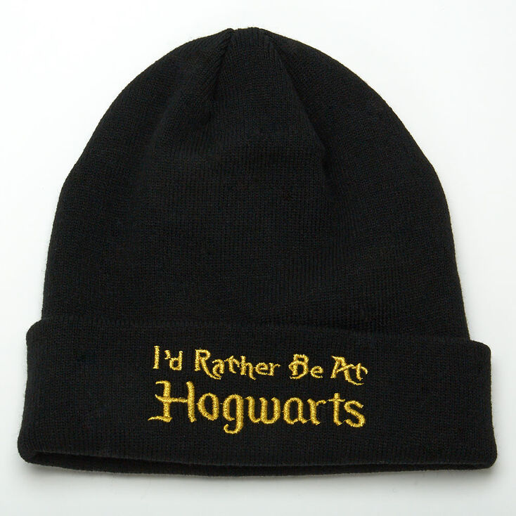 Bonnet « I'd Rather Be At Hogwarts » Harry Potter™ – Noir,