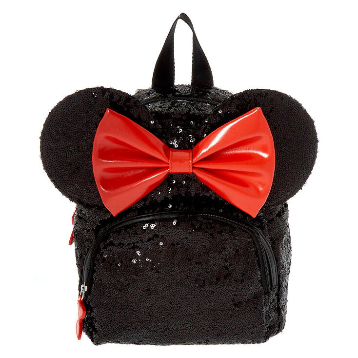 Disney's® Minnie Mouse Sequin Small Backpack - Black,