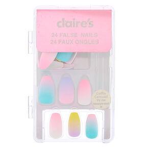 Pastel Ombre Faux Nail Set - 24 Pack