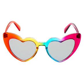 Rainbow Heart Cat Eye Sunglasses,