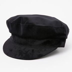 Velvet Captain Hat - Black,