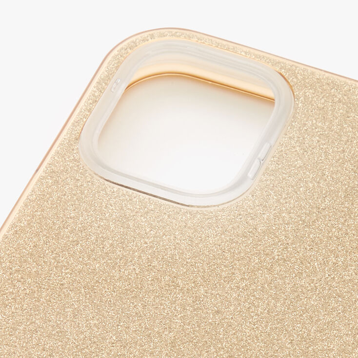 Gold Glitter Protective Phone Case - Fits iPhone 12 Mini,