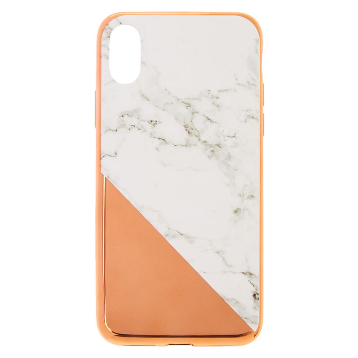 on sale 8084f 7b555 Rose Gold Marble Phone Case - Fits iPhone X/XS