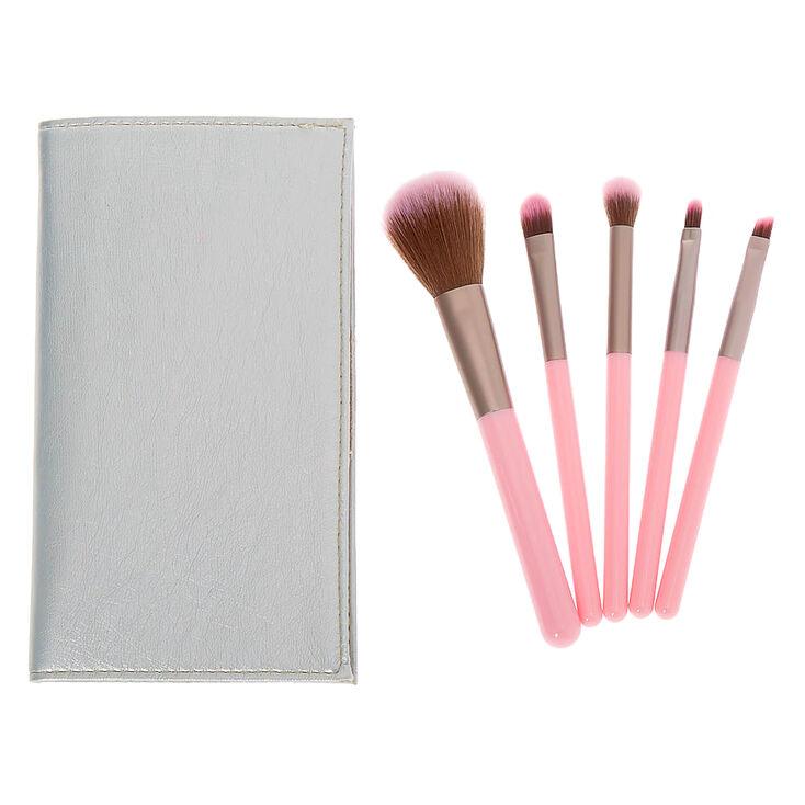 Bubblegum Makeup Brush Set - Pink, 5 Pack,