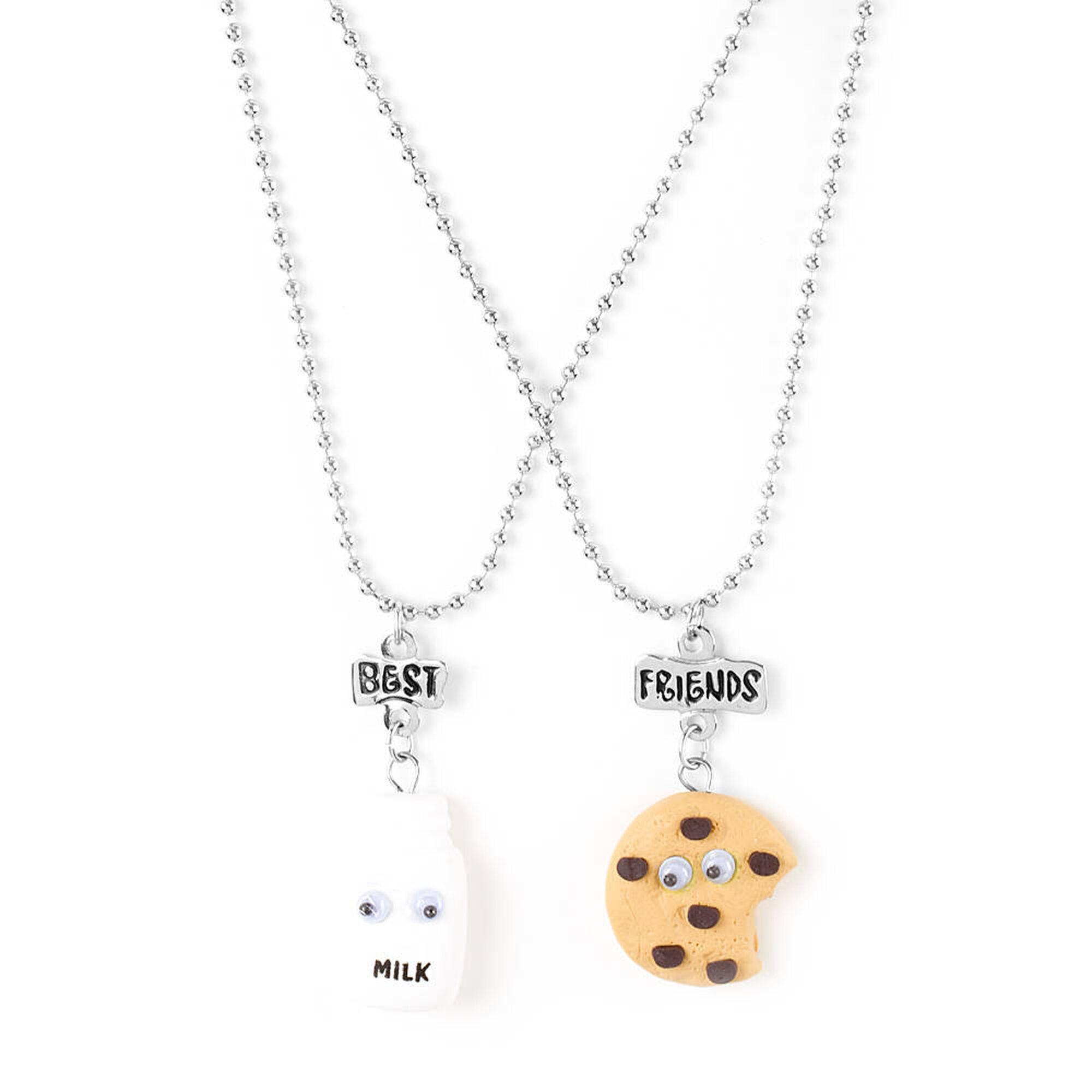 Best friends googly eye milk cookie pendant necklaces claires us best friends googly eye milk amp cookie pendant necklaces mozeypictures Choice Image