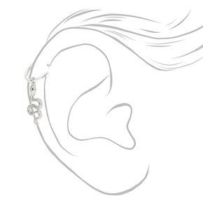 Silver 22G Snake Charm Cartilage Hoop Earring,