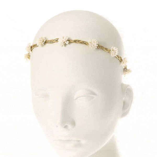 Claire's - paper flower braided headwrap - 1