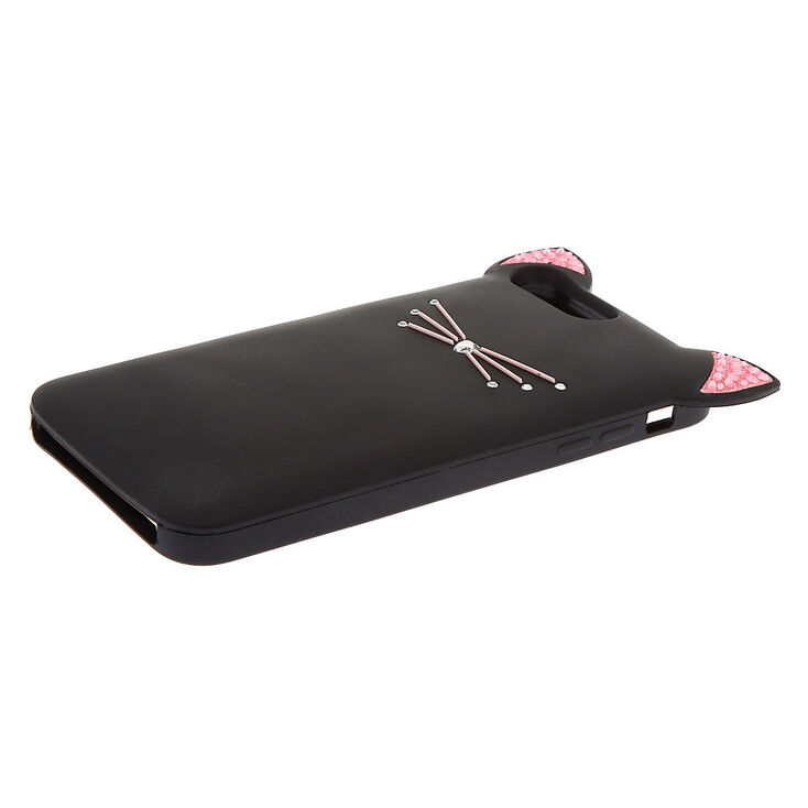 Silicone Black Cat Phone Case - Fits iPhone 6/7/8 Plus,