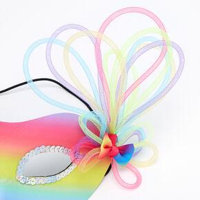 Rainbow Ombre Masquerade Mask,