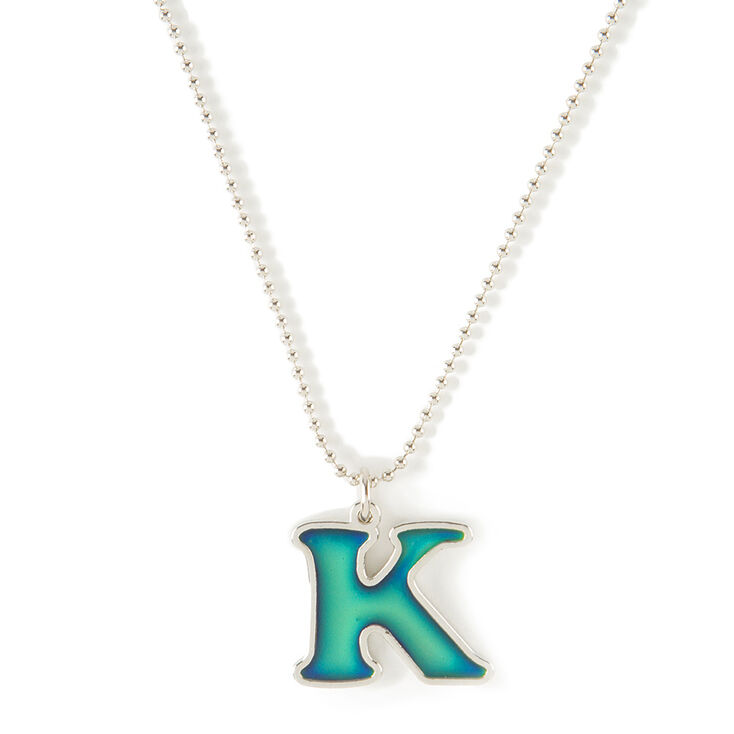 12252accac8ced Mood Initial K Pendant Necklace | Claire's US
