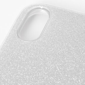 Silver Glitter Protective Phone Case - Fits iPhone XR,