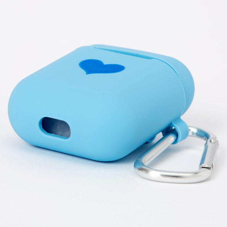 Étui pour écouteurs en silicone cœur cobalt - Compatible avec les Airpods® de Apple,