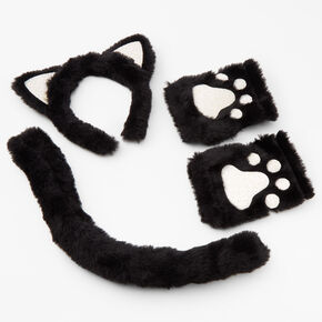 Black Cat Costume Set - Black, 3 Pack,