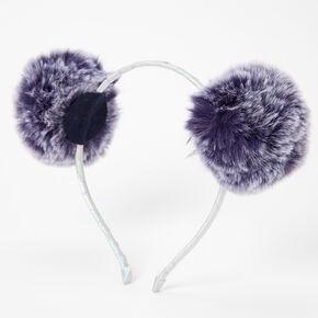 Ombre Pom Pom Ears Headband - Navy,