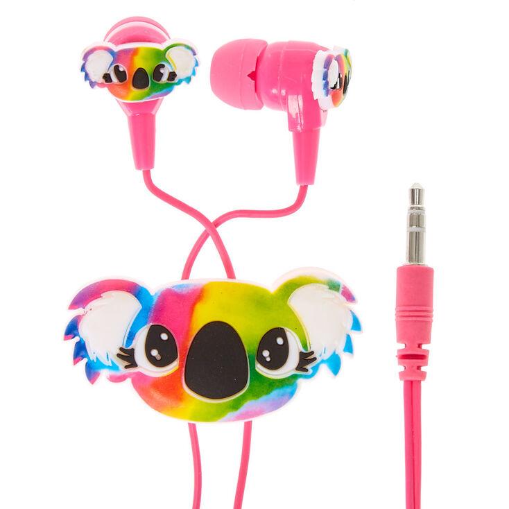 Tie-Dye Koala Earbuds & Winder,