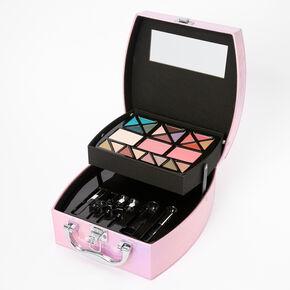 Palette compacte de maquillage et trousse de voyage holographique - Rose,