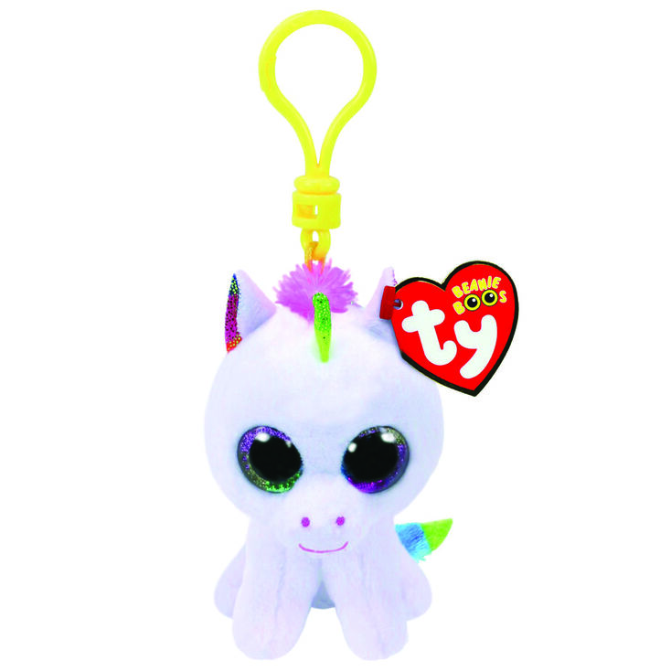 Ty Beanie Boo Pixy the Unicorn Keyring Clip,