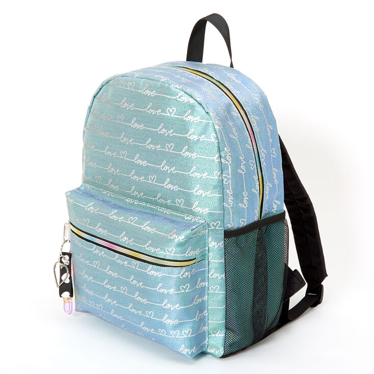 Love Script Large Backpack - Blue,
