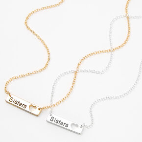 Best Friends Sisters Pendant Necklaces - 2 Pack,