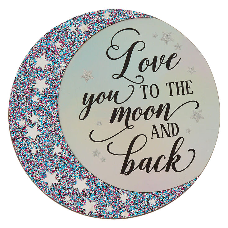 Love You To The Moon And Back Wall Art Purple Claires